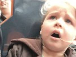 four-year-old girl's regret when she rides the big rollercoaster