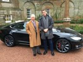 prince of wales is preparing to add an electric car to the royal fleet