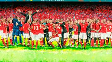 welsh goalkeeper's euro 2016 artwork goes on display