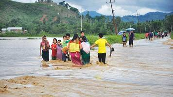 four killed in floods and landslide in assam; situation improves in manipur and tripura