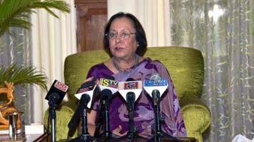 Manipur Governor Dr. Najma Heptulla donates her one day salary for flood victims