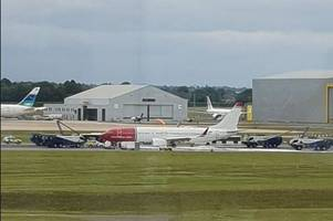 The reason for emergency landing which closed Birmingham Airport runway