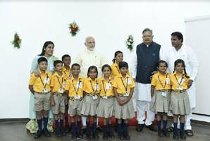 pm modi encourages students of christel house to follow sports along with studies