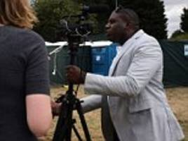 labour's david lammy grapples with reporter after being interviewed about anti-semitism at jezfest