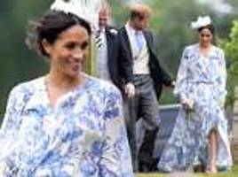 prince harry and meghan markle stun at diana's niece's wedding