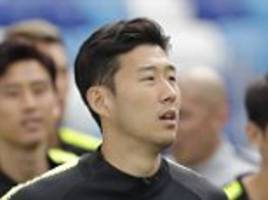 South Korea training ahead of 2018 World Cup opener against Sweden