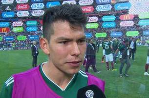 Hirving Lozano 'Chucky' interview after scoring game-winning goal against Germany