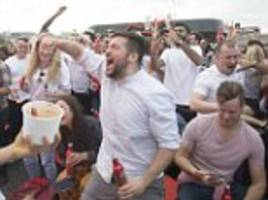 england fans pack out pubs across britain for first group g fixture against tunisia