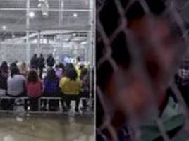 Video of cages for illegal immigrants & kids at US detention center