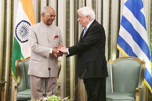 President Ram Nath Kovind meets his Greek counterpart Prokopis Pavlopoulos