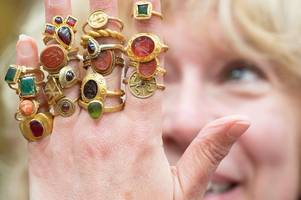 huge collection of ancient rings once owned by leicester gas engineer expected to fetch up to £100k at auction