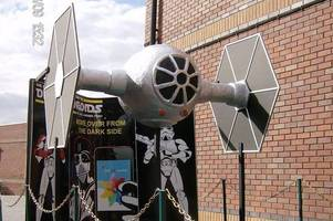 8ft long tie fighter replica from star wars being sold off to raise money for demi knight treatment