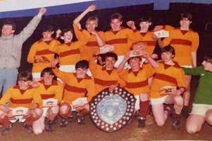 victorious school football team re-unite after 35 years to mark glorious cup win