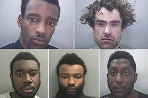 five men jailed for 18 years for their roles in gangs flooding cardiff with class a drugs