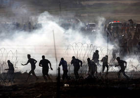 gazan killed, three more wounded while trying to cross border fence