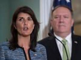 nikki haley pulls the u.s. out of 'cesspool' u.n. human rights council