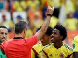 Carlos Sanchez shown second-fastest red card in World Cup history