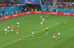 Russia takes a 2-0 lead over Egypt