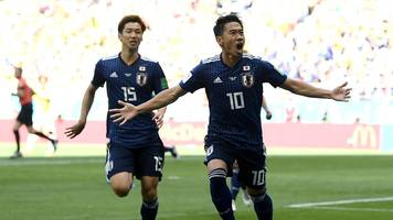 Kagawa scores penalty after first red card of Russia 2018