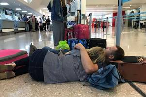 holiday couple faced nightmare 30-hour flight delay after emergency landing caused runway closure at their airport
