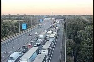 M25 Dartford Crossing traffic: Diversions in place after serious incident causes eight miles of queues