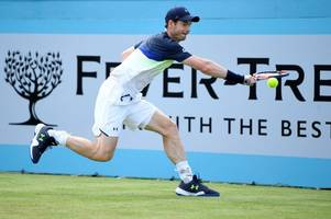 andy murray returns to action but is beaten by nick kyrgios at queens