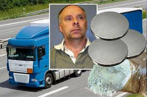 drug smuggler used magnets to hide £600,000 of heroin underneath lorry driven from holland to scotland