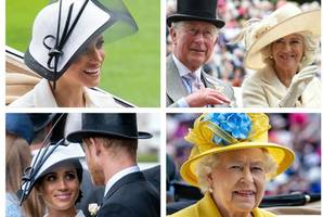 meghan markle wows ascot as she arrives with harry for first royal sporting engagement