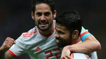 world cup 2018: spain beat iran thanks to diego costa goal