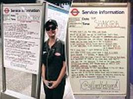 all on the board leave mysterious poems on london underground