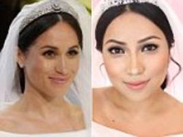 Makeup artist transforms herself into Meghan Markle's wedding look and the similarities are uncanny