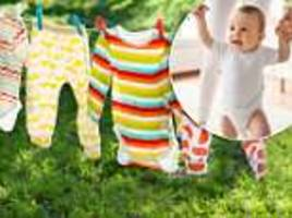the ridiculously simple 'genius' hack for hanging out baby laundry has parents obsessed