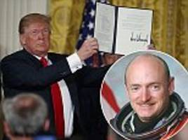 'this is a dumb idea': nasa astronaut mark kelly slams trump's order to create a space force