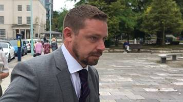 stopped driver 'lifted policeman by nostrils', court told