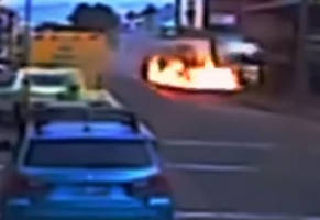 Idiot Steals Semi-Trailer Truck and Gets What's Coming to Him