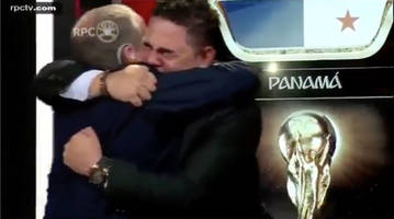watch: panama announcers get emotional hearing anthem at world cup