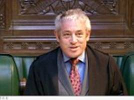 would bouncy bercow go now? would he heck: quentin letts on yesterday in parliament