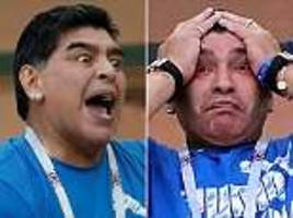 diego maradona's night as argentina are crushed by croatia