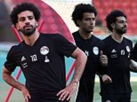 mo salah puts world cup elimination to back of his mind as egypt train at akhmat arena