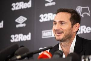 frank lampard relishing 'exciting start' as derby county's 2018-19 championship fixtures are released
