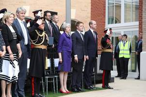 prince william and theresa may visit leicestershire to unveil new facility for armed forces veterans
