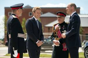 prince william attends unveiling of £300m rehab centre for armed forces in nottinghamshire