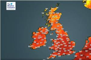 summer heat blast: scorching air from southern europe to raise gloucestershire temperatures to 30c