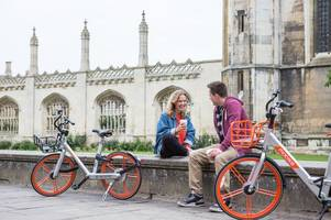 ofo competitor mobike is launching in cambridge today