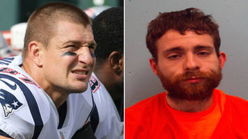 man accused of robbing rob gronkowski's house wears patriots shirt to arraignment hearing