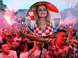 Croatian fans go wild in Zagreb after watching Argentina victory