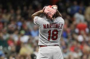 cardinals suffer ugly 11-3 loss to first-place brewers in series opener