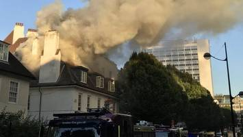 London Euston fire: Crews tackle blaze near station