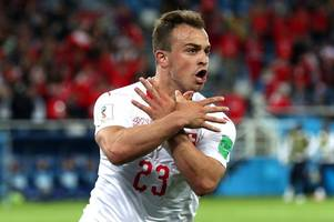 xherdan shaqiri lights up world cup, but some stoke city fans are still not convinced