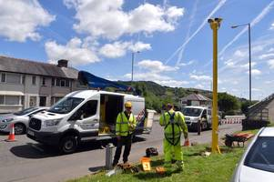 new digital speed cameras that never run out of film are going up on a major swansea road